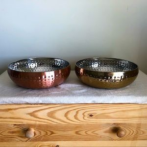 🌈3/$20. Gold & Rose Gold Serving / Accent Dishes